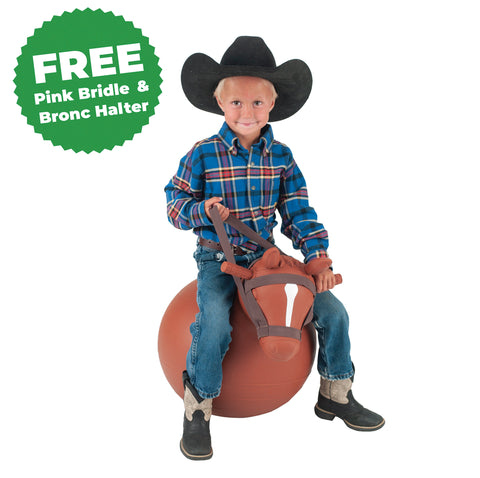 Bouncy Horse® with Free Bronc Halter & Pink Bridle
