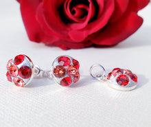 "Load image into Gallery viewer, Set ""Shades Of Red"" din argint 925 cu cristale Swarovski - Cod produs SE79"