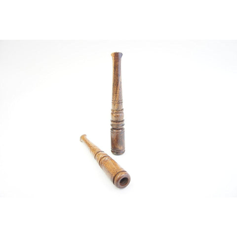 "4"" Carved Rosewood Wooden Cigarette Holder"