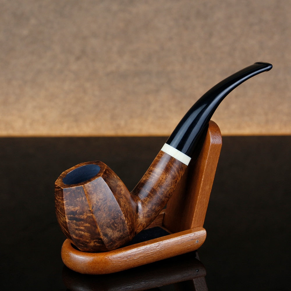 Classic Briar Wood Tobacco Pipe Octagon Shape