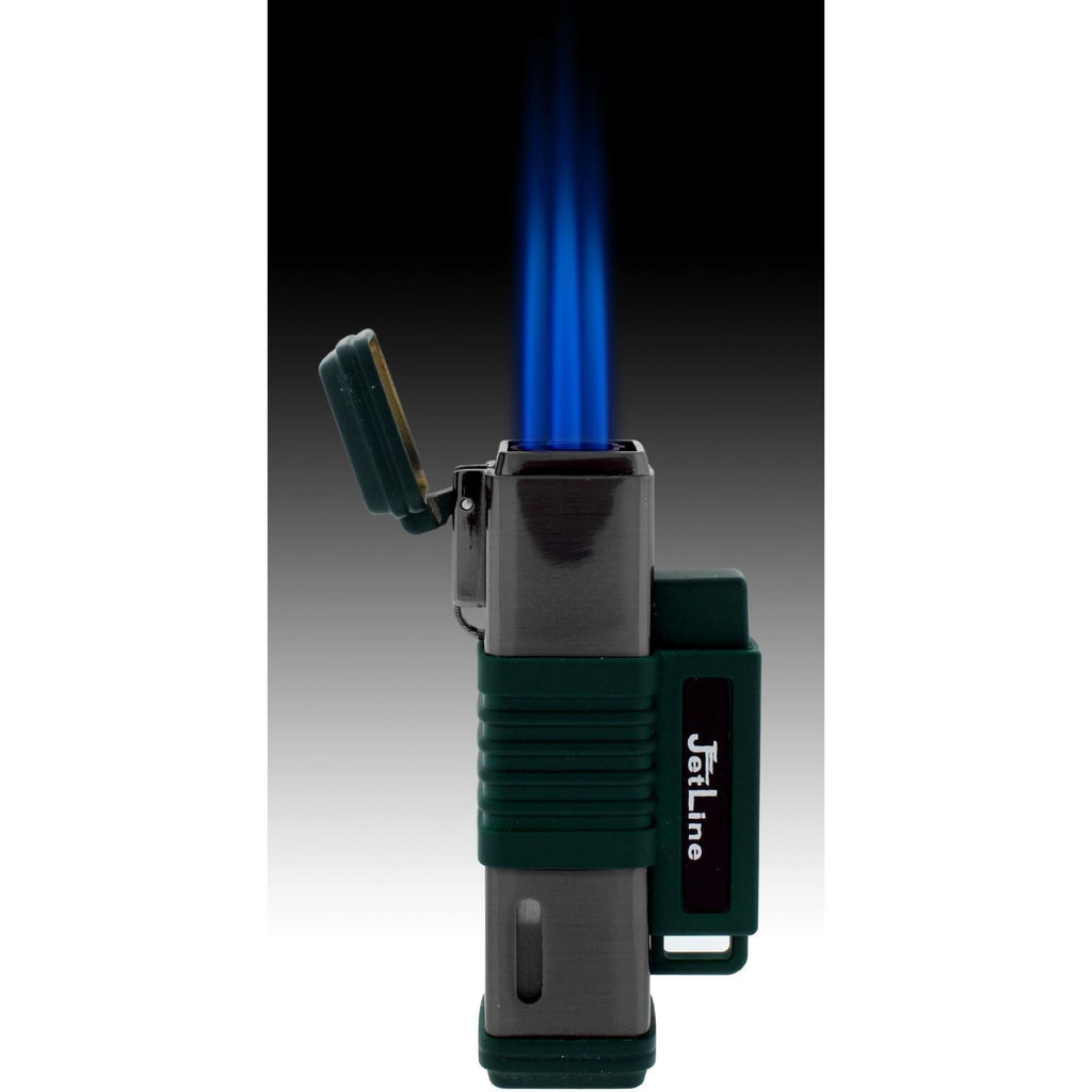 JetLine New York Triple Torch Flame Lighter - Chrome Black - WoodStonePipes.com   - 2