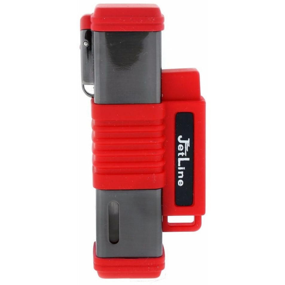 JetLine New York Triple Torch Flame Lighter - Gun Metal Red - WoodStonePipes.com