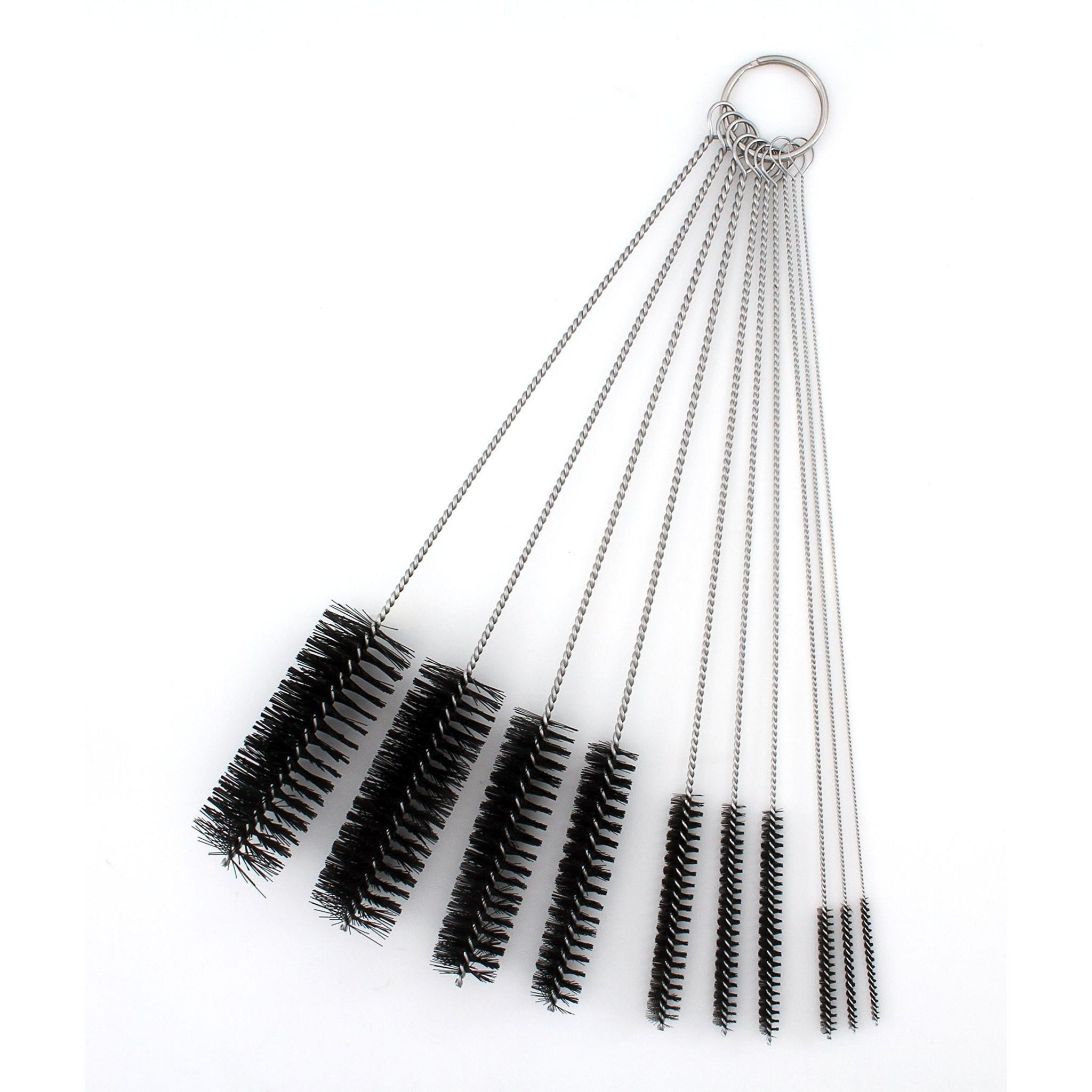 Pipe Cleaners - 8 Inch Nylon Tube Brush Set - Variety Pack 1 set of 10 pieces - WoodStonePipes.com   - 2