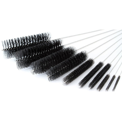 Pipe Cleaners - 8 Inch Nylon Tube Brush Set - Variety Pack 1 set of 10 pieces - WoodStonePipes.com   - 3