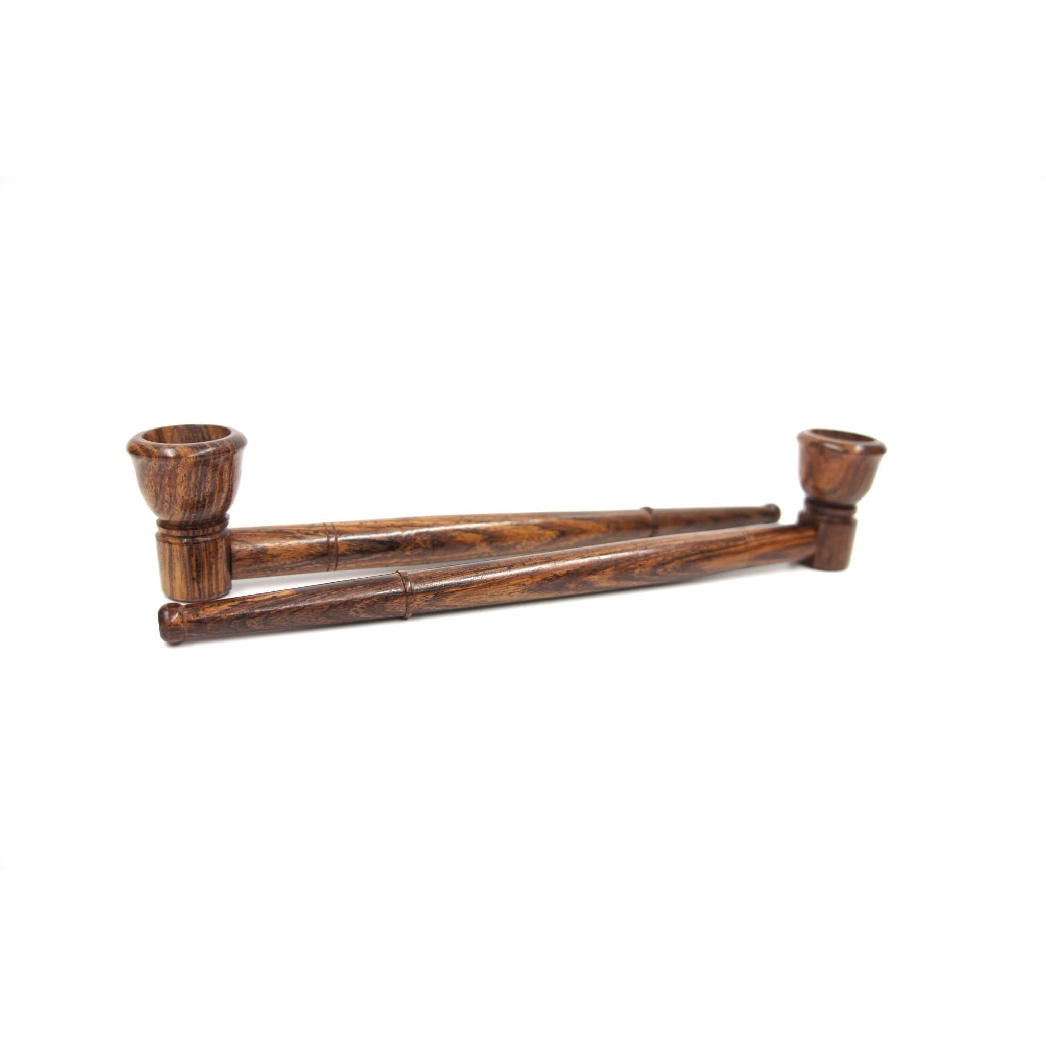 "8"" Long Straight Rosewood Smoking Tobacco Pipe - WoodStonePipes.com   - 2"