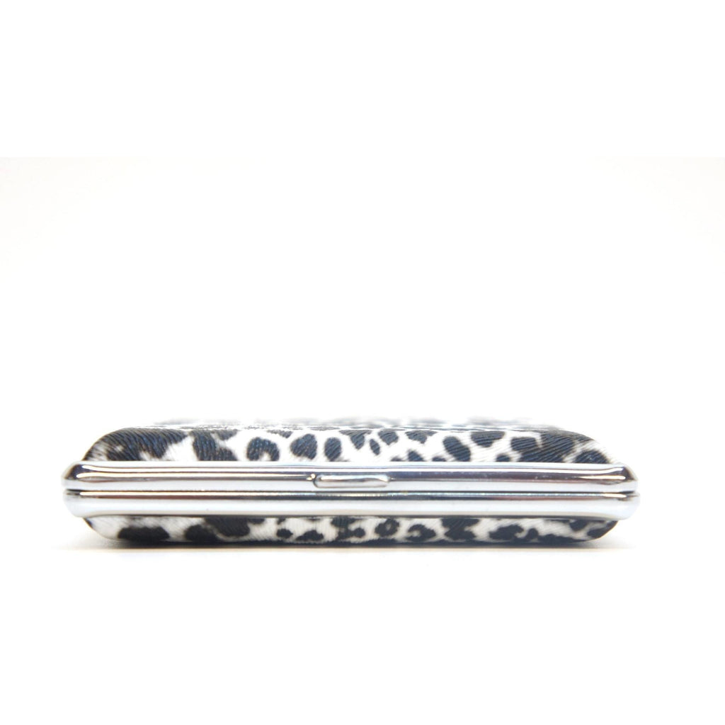 White Leopard Pattern Metal Cigarette Case Holder - WoodStonePipes.com   - 2