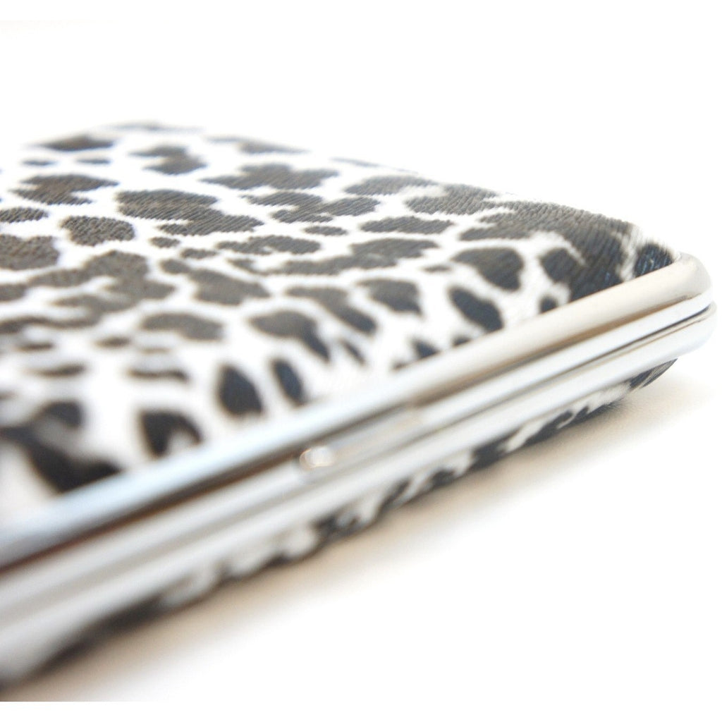 White Leopard Pattern Metal Cigarette Case Holder - WoodStonePipes.com   - 4