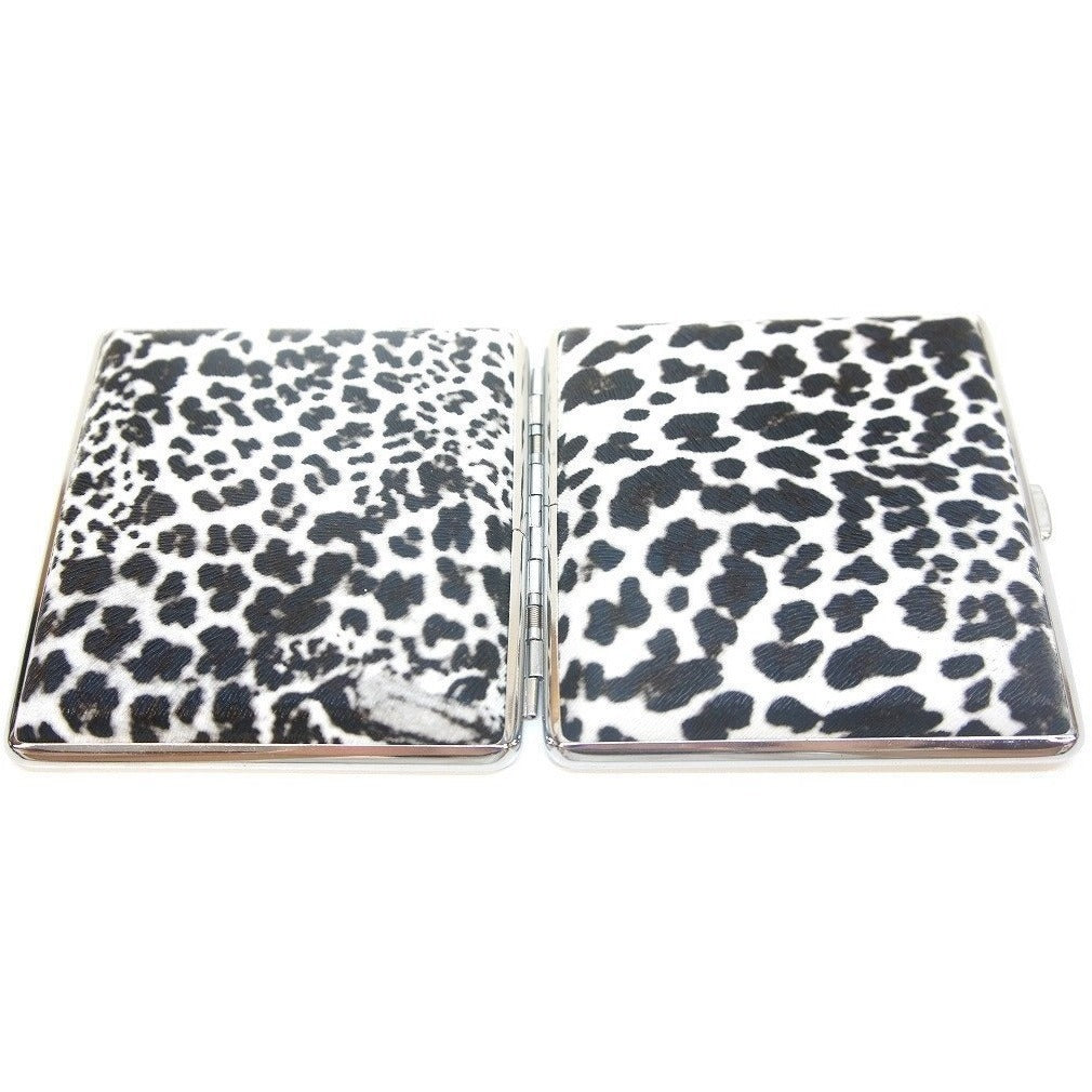 White Leopard Pattern Metal Cigarette Case Holder - WoodStonePipes.com   - 7