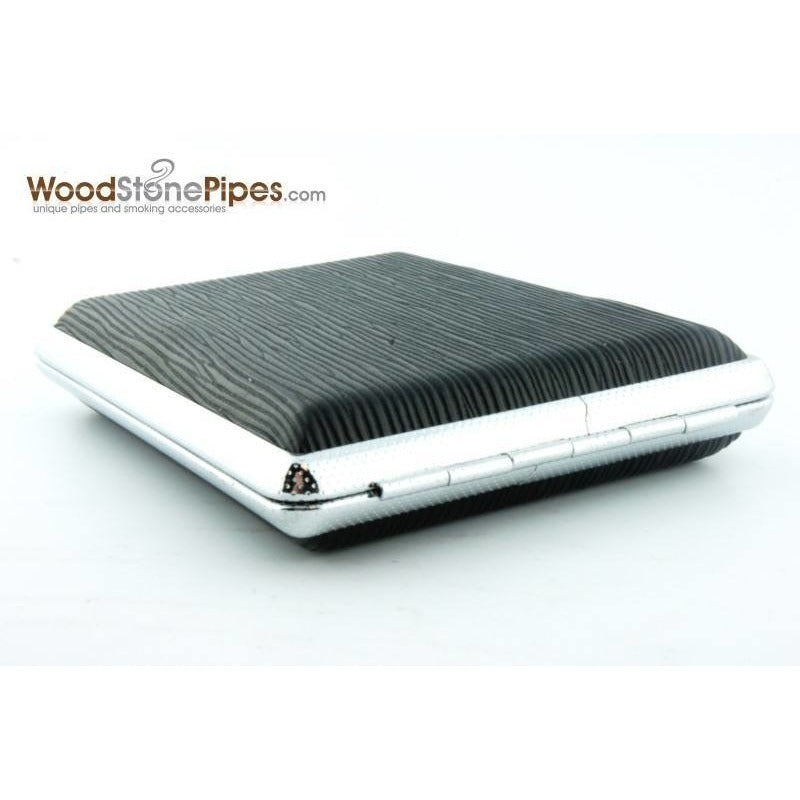 Black Pocket Cigarette Case Holder - WoodStonePipes.com   - 3