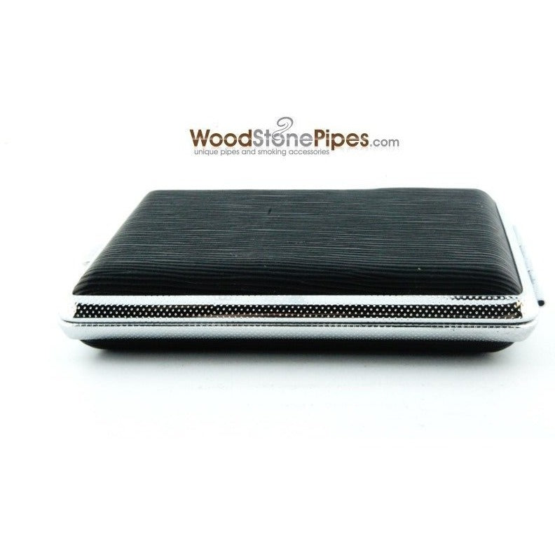 Black Pocket Cigarette Case Holder - WoodStonePipes.com   - 4