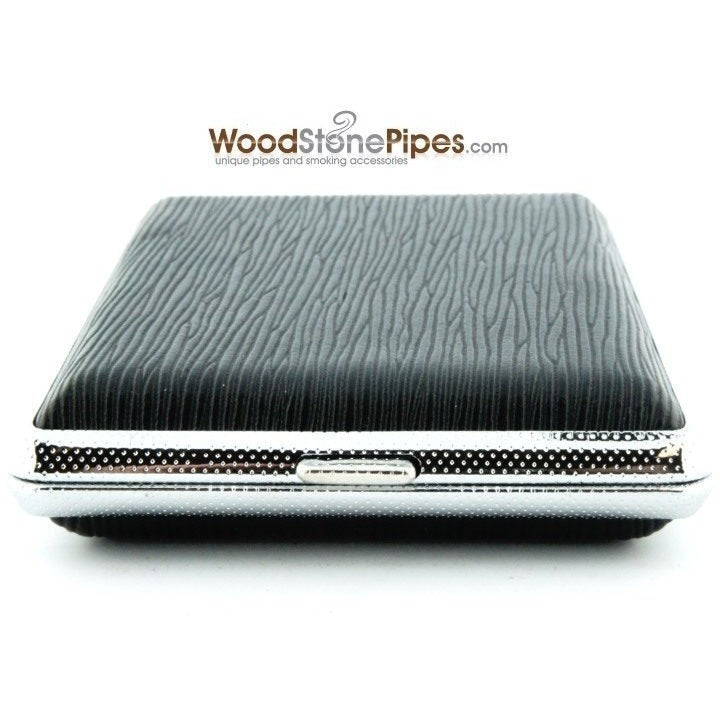 Black Pocket Cigarette Case Holder - WoodStonePipes.com   - 5