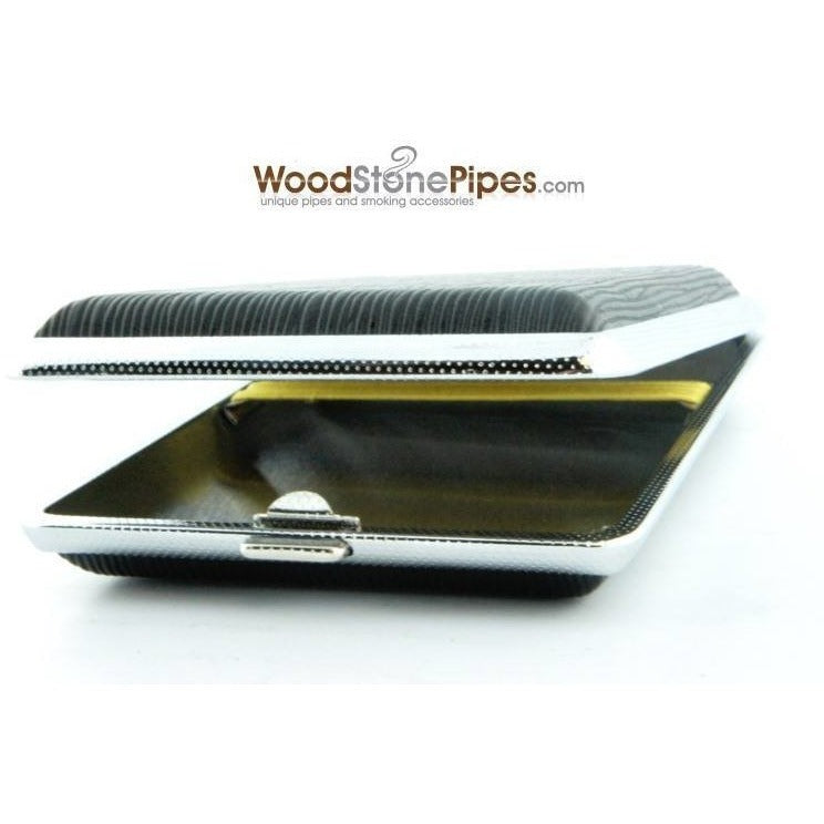 Black Pocket Cigarette Case Holder - WoodStonePipes.com   - 6