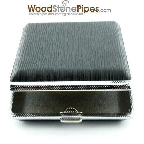 Black Pocket Cigarette Case Holder - WoodStonePipes.com   - 7