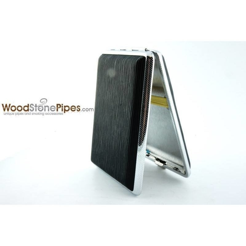 Black Pocket Cigarette Case Holder - WoodStonePipes.com   - 8