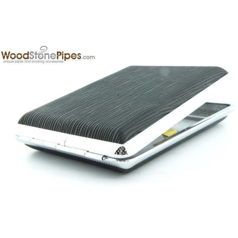 Black Pocket Cigarette Case Holder - WoodStonePipes.com   - 9