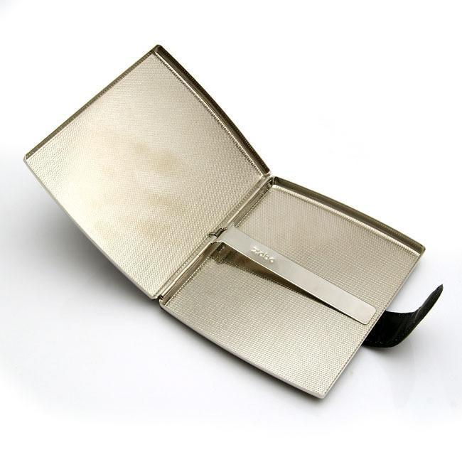 Black Textured Leather Cigarette Case - WoodStonePipes.com   - 3