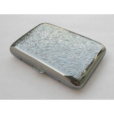 Embossed Arabesques Cigarette Case - WoodStonePipes.com   - 1