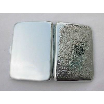 Embossed Arabesques Cigarette Case - WoodStonePipes.com   - 2