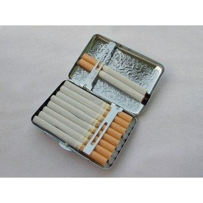 Embossed Arabesques Cigarette Case - WoodStonePipes.com   - 3