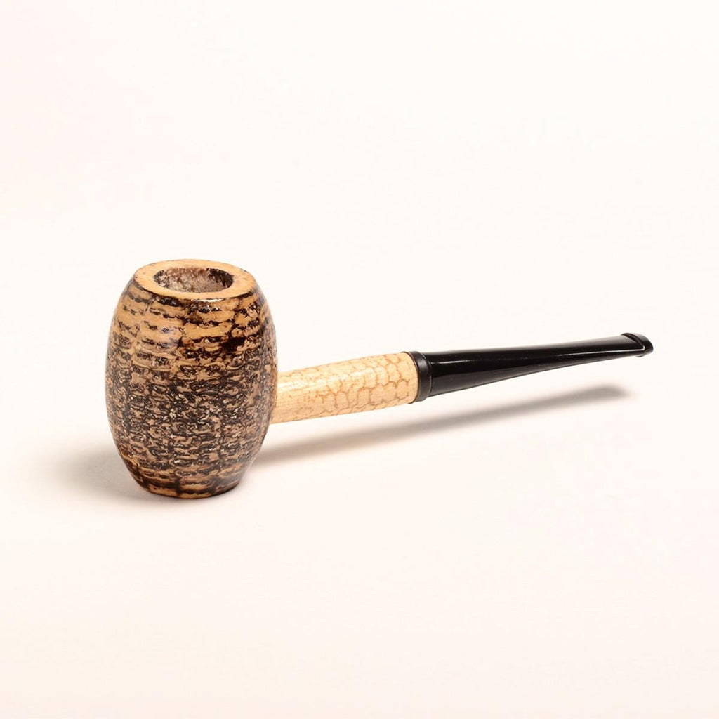 Country Gentleman Corn Cob Pipe - with Extra Large Barrel Shaped Bowl - Straight Bit - WoodStonePipes.com
