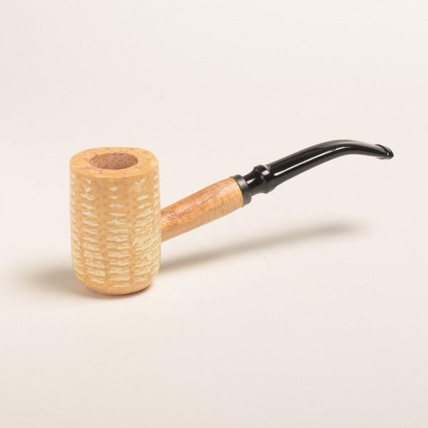Diplomat Corn Cob Pipe - with Bent and Straight Bit - WoodStonePipes.com