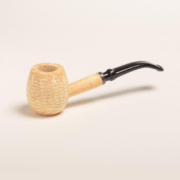 Diplomat Corn Cob Pipe - with Bent and Straight Bit - WoodStonePipes.com   - 3
