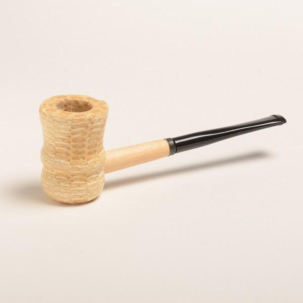 Great Dane Corn Cob Pipe - with Bent and Straight Bit - WoodStonePipes.com   - 2