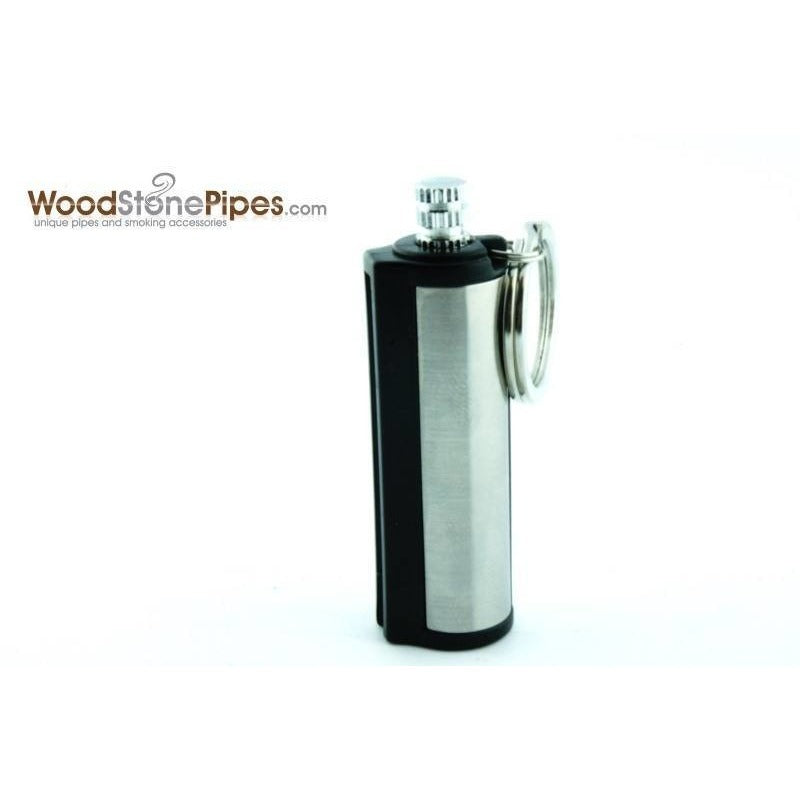 Silver Metal Cigarette Match Striker Lighter Keychain - WoodStonePipes.com   - 2