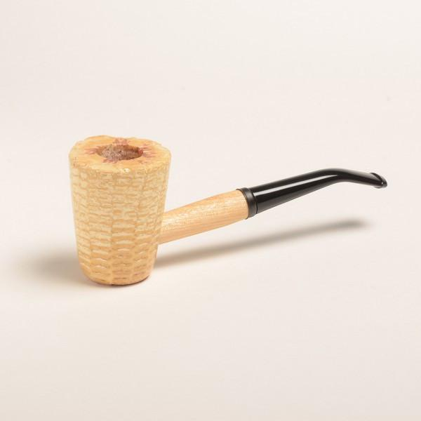 Mark Twain Corn Cob Pipe - with Straight and Bent Bit - WoodStonePipes.com   - 1