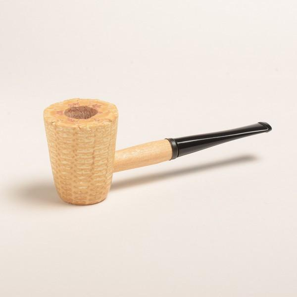 Mark Twain Corn Cob Pipe - with Straight and Bent Bit - WoodStonePipes.com   - 2