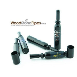 "Mini Metal  Smoking Pipe Hidden Portable Hand Pipe - 3"" Long Bottle Shaped Pipe - WoodStonePipes.com   - 1"