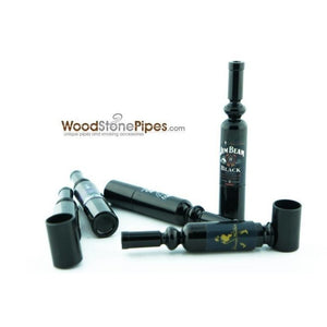 "Mini Metal  Smoking Pipe Hidden Portable Hand Pipe - 3"" Long Bottle Shaped Pipe - WoodStonePipes.com   - 5"