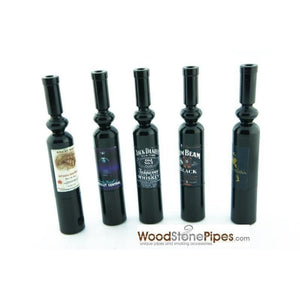 "Mini Metal  Smoking Pipe Hidden Portable Hand Pipe - 3"" Long Bottle Shaped Pipe - WoodStonePipes.com   - 6"