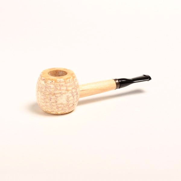 Morgan Corn Cob Pipe - with Amber and Black Bit - WoodStonePipes.com   - 2