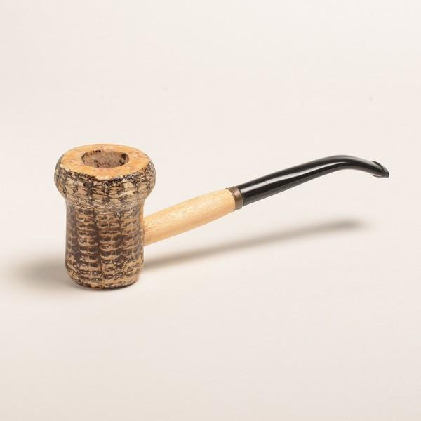Patriot Corn Cob Pipe - with Bent and Straight Bit - WoodStonePipes.com   - 1