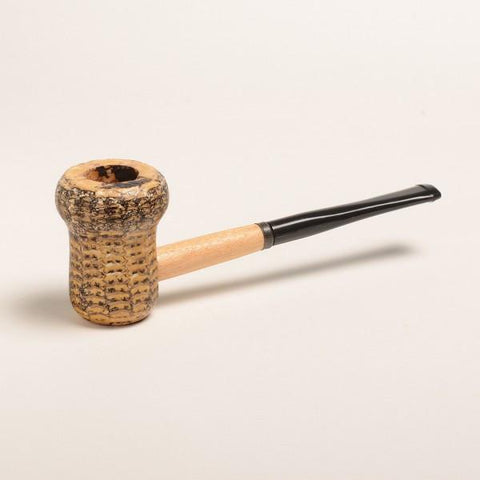 Patriot Corn Cob Pipe - with Bent and Straight Bit