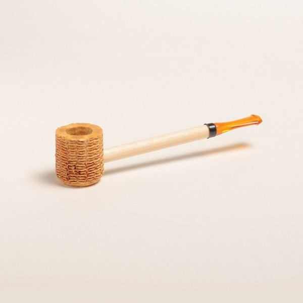 Short Stop Corn Cob Pipe - with Amber or Black Bit - WoodStonePipes.com   - 1