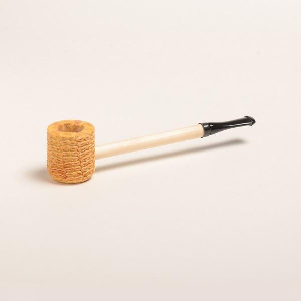 Short Stop Corn Cob Pipe - with Amber or Black Bit - WoodStonePipes.com   - 2