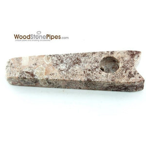 "3.5"" Stone Smoking Tobacco Marble Colored Hand Pipe - WoodStonePipes.com   - 1"