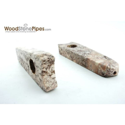 "Stone Pipe - 3.5"" Stone Smoking Tobacco Marble Colored Hand Pipe"