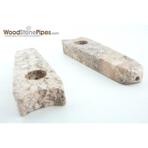 "3.5"" Stone Smoking Tobacco Marble Colored Hand Pipe - WoodStonePipes.com   - 5"