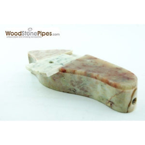 "3"" Marble Colored Hand Stone Smoking Tobacco Pipe with Lid - WoodStonePipes.com   - 1"