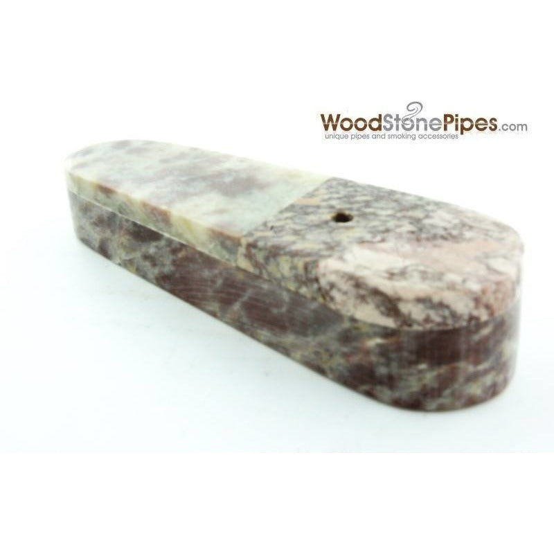 "3"" Marble Colored Hand Stone Smoking Tobacco Pipe with Sliding Lid - WoodStonePipes.com   - 2"
