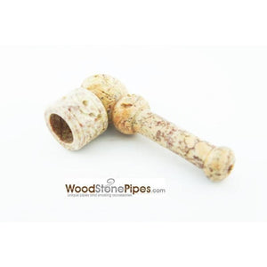 "3"" Mini Soapstone Pipe - Marble Colored Smoking Tobacco Stone Pipe - WoodStonePipes.com   - 6"