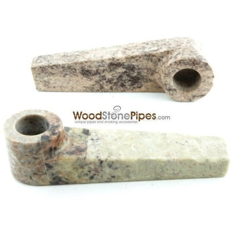 "3"" Soap Stone Smoking Tobacco Marble Colored Mini Hand Pipe - WoodStonePipes.com   - 3"