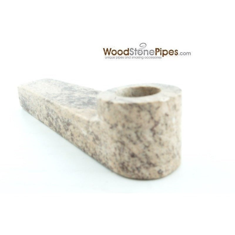 "3"" Soap Stone Smoking Tobacco Marble Colored Mini Hand Pipe - WoodStonePipes.com   - 4"