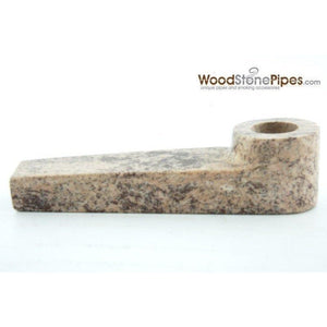 "3"" Soap Stone Smoking Tobacco Marble Colored Mini Hand Pipe - WoodStonePipes.com   - 5"