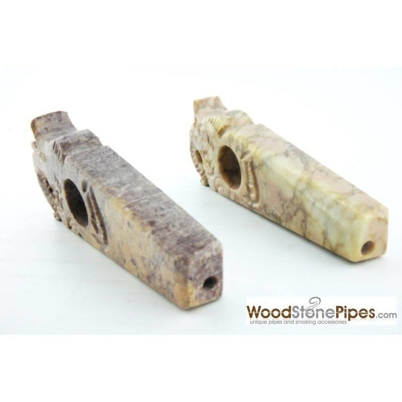 "3"" Stone Smoking Tobacco Collectible Pipe - WoodStonePipes.com   - 2"