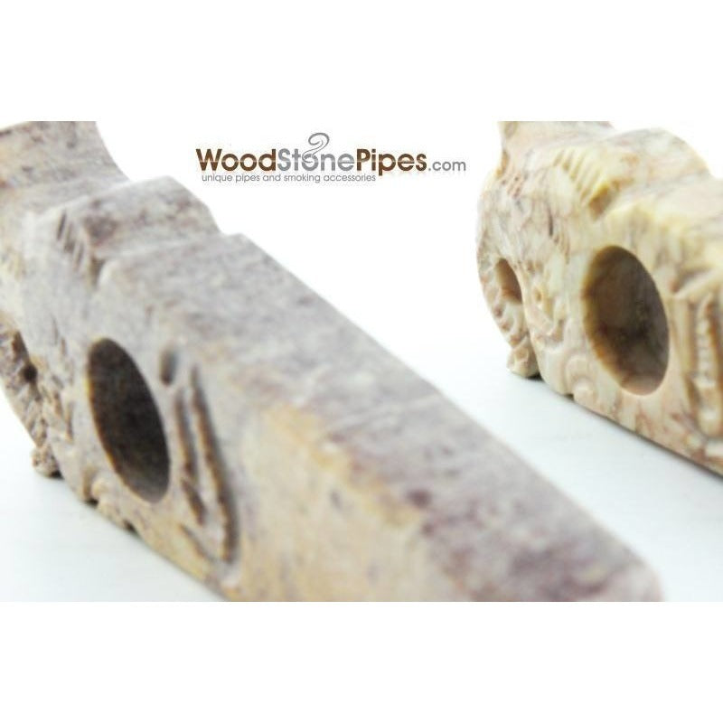 "3"" Stone Smoking Tobacco Collectible Pipe - WoodStonePipes.com   - 3"