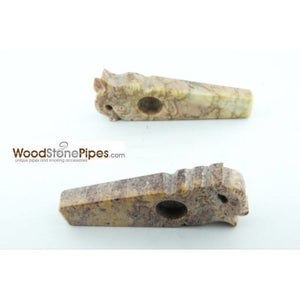 "3"" Stone Smoking Tobacco Collectible Pipe - WoodStonePipes.com   - 4"